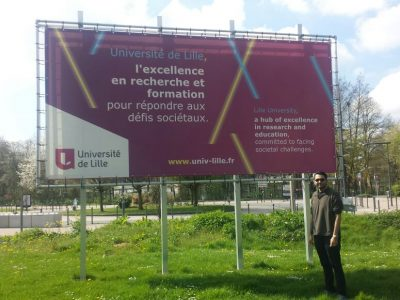 Aluno Renato Pereira (PPGCC/IFCE) realiza intercâmbio na Universidade Lille (França)