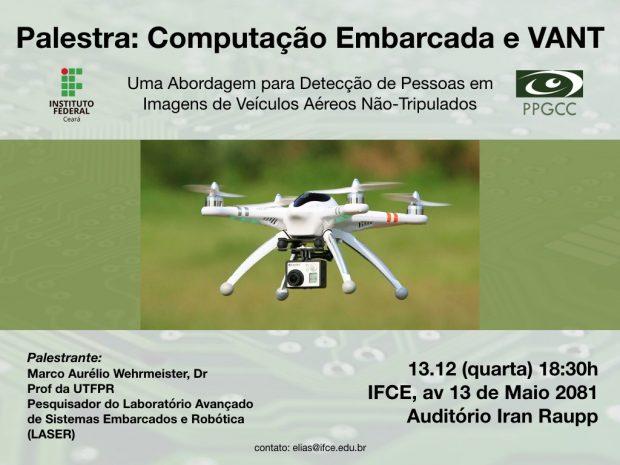 [Divulgação-13/12/2017] Palestra sobre Detecção de Pessoas em Imagens de Veículos Aéreos Não-Tripulados